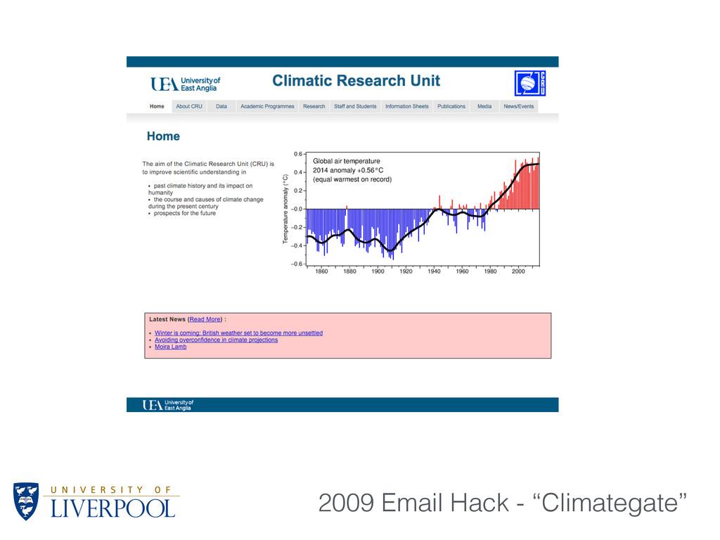 """2009 Email Hack - """"Climategate"""""""