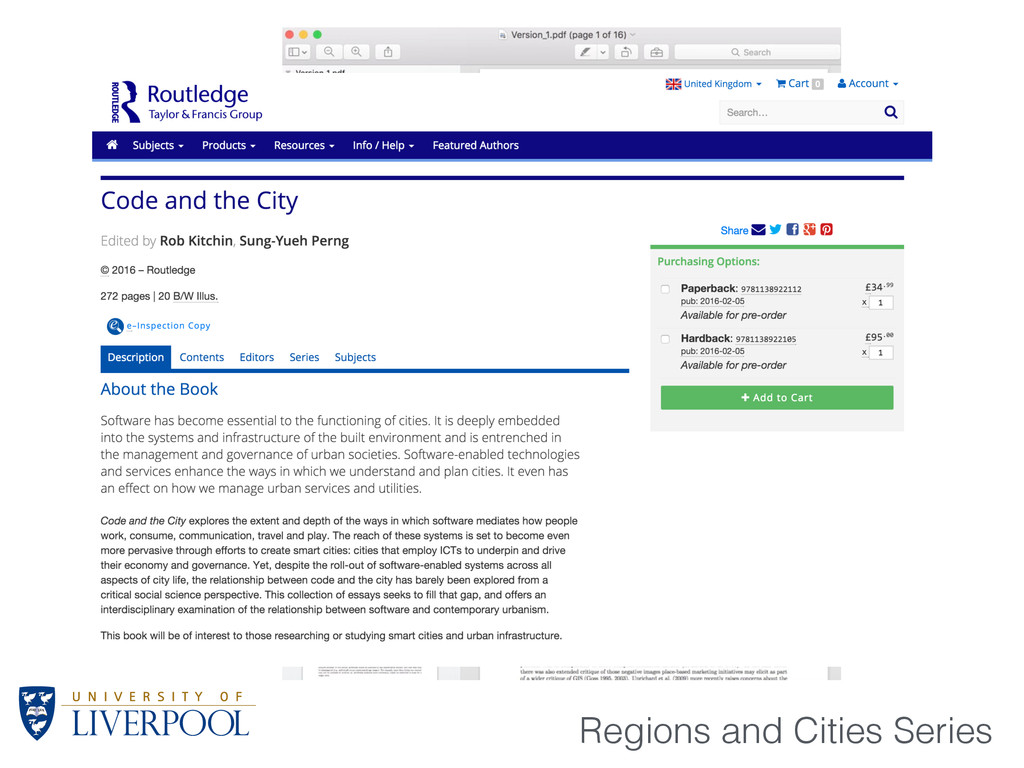 Regions and Cities Series