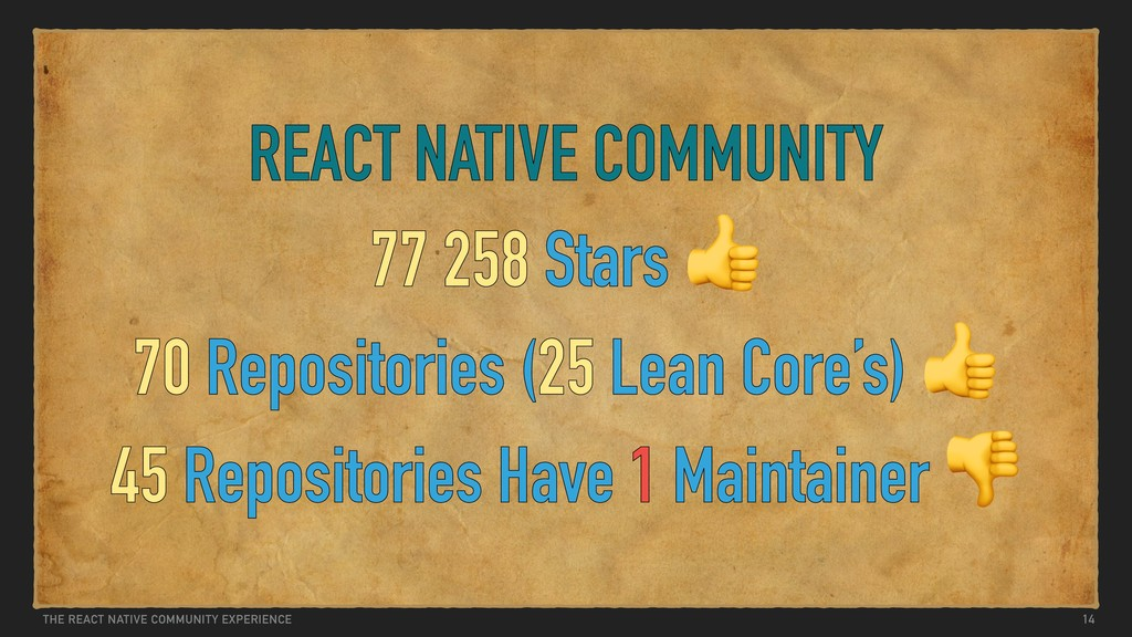 THE REACT NATIVE COMMUNITY EXPERIENCE REACT NAT...