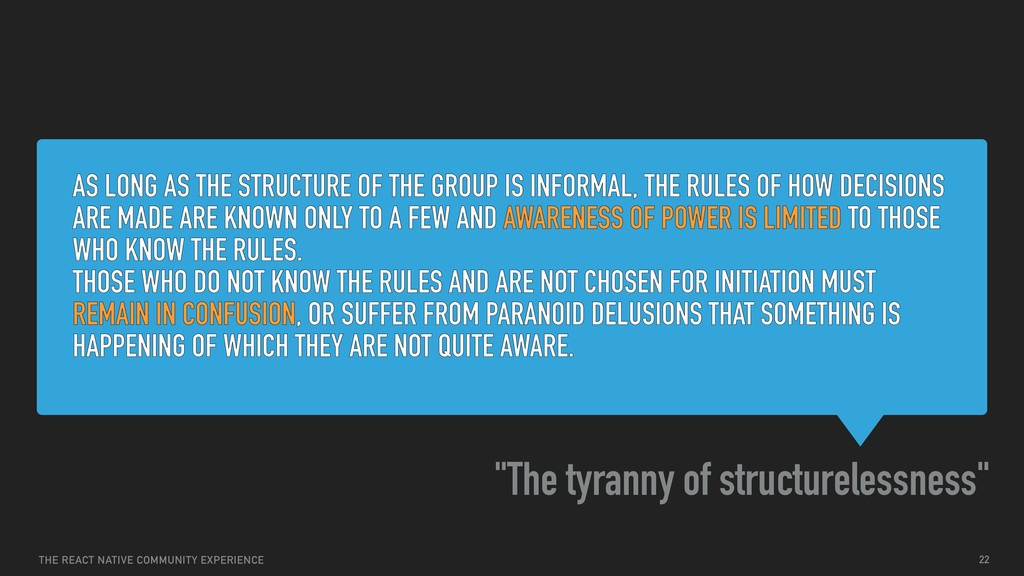 AS LONG AS THE STRUCTURE OF THE GROUP IS INFORM...