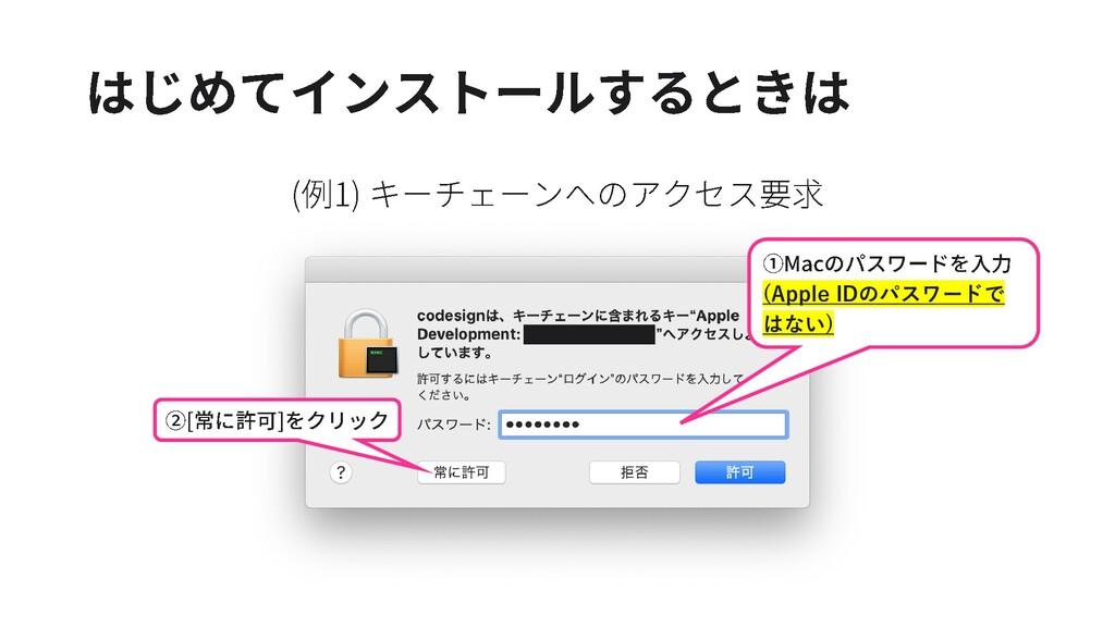 (Apple IDのパスワードで はない)