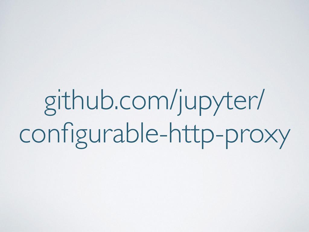 github.com/jupyter/ configurable-http-proxy