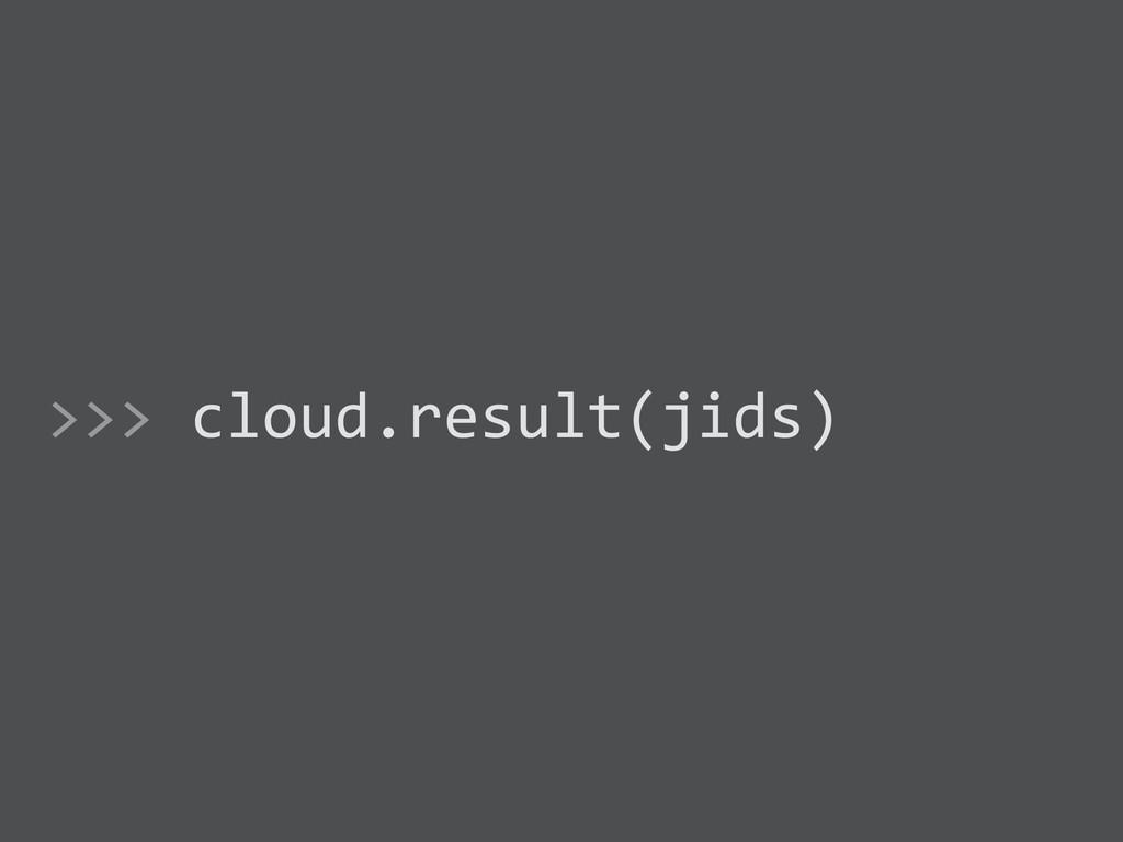 >>> cloud.result(jids)