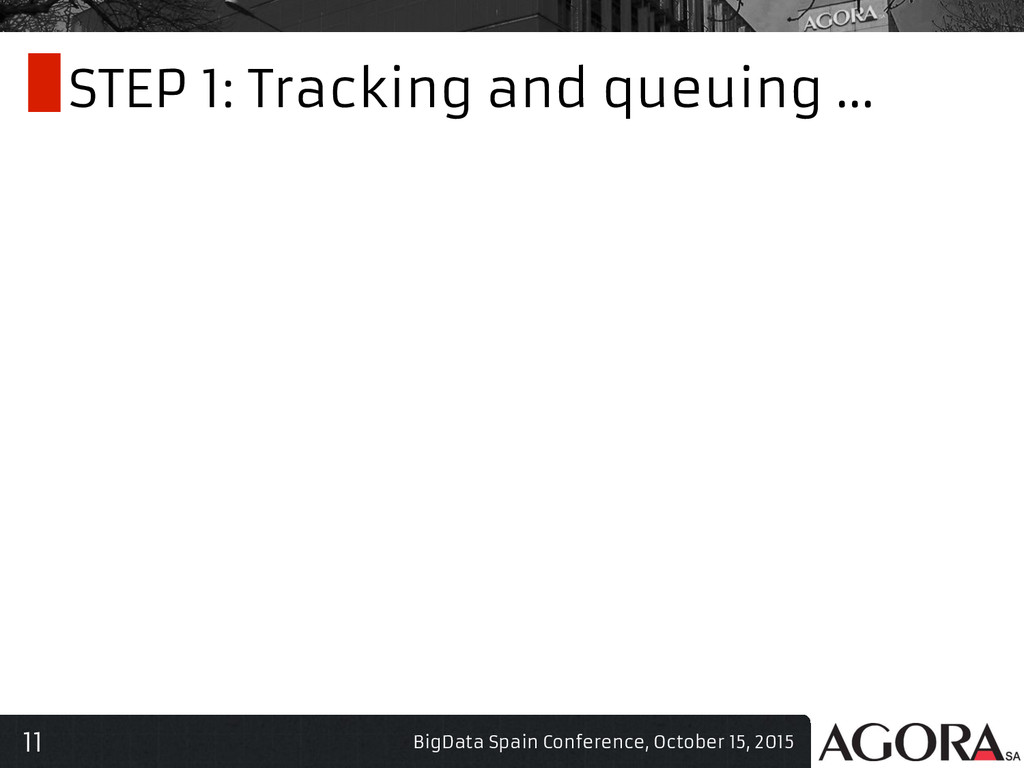 11 STEP 1: Tracking and queuing ... BigData Spa...