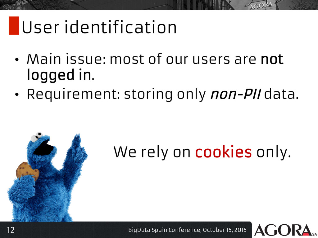 12 User identification • Main issue: most of o...