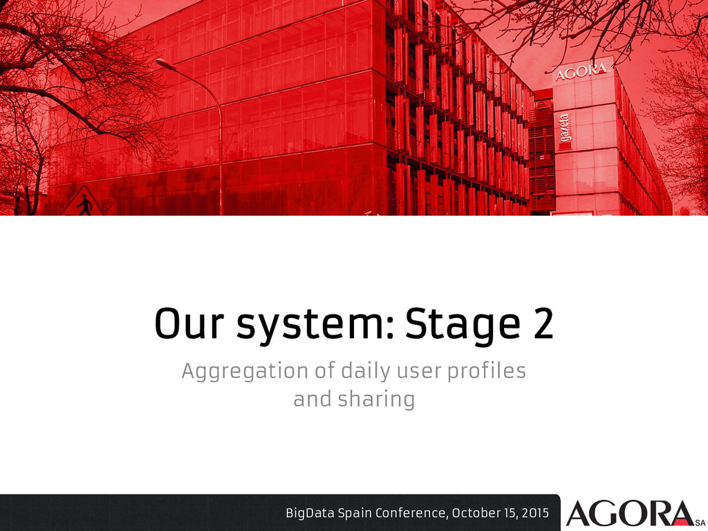 Our system: Stage 2 Aggregation of daily user p...