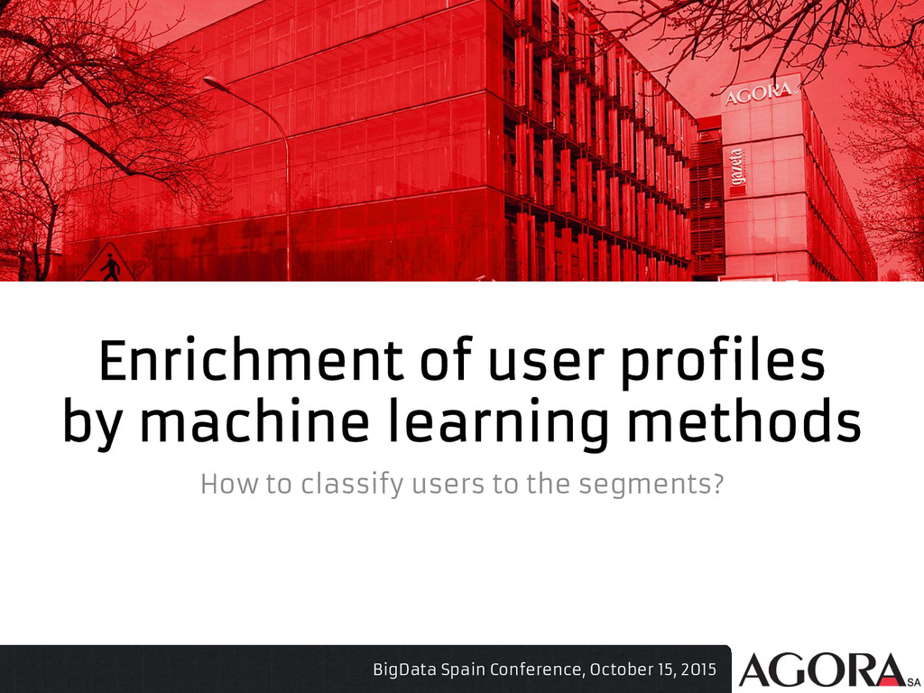 Enrichment of user profiles by machine learning...