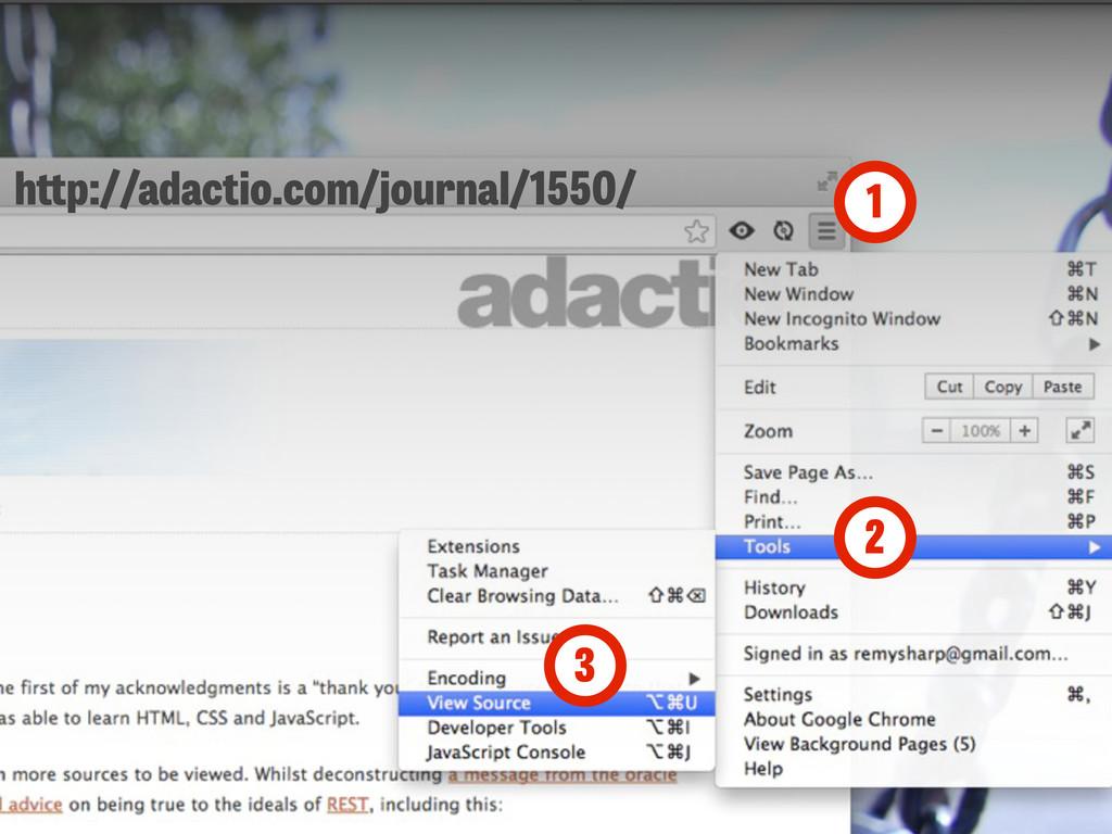 1 2 3 h p://adactio.com/journal/1550/