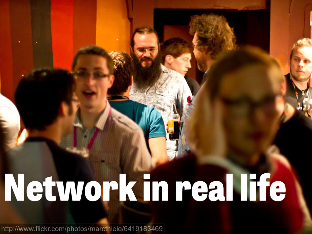 Network in real life http://www.flickr.com/phot...