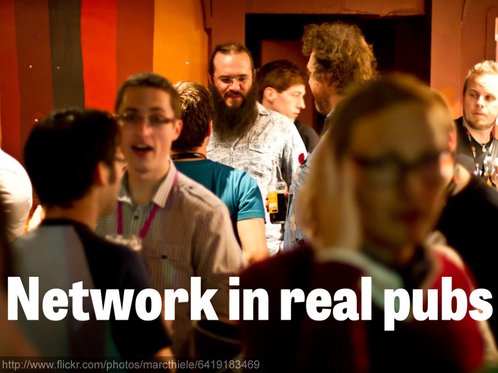 Network in real pubs http://www.flickr.com/phot...