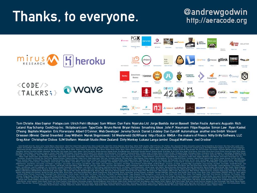 Thanks, to everyone. @andrewgodwin Aaron Basset...