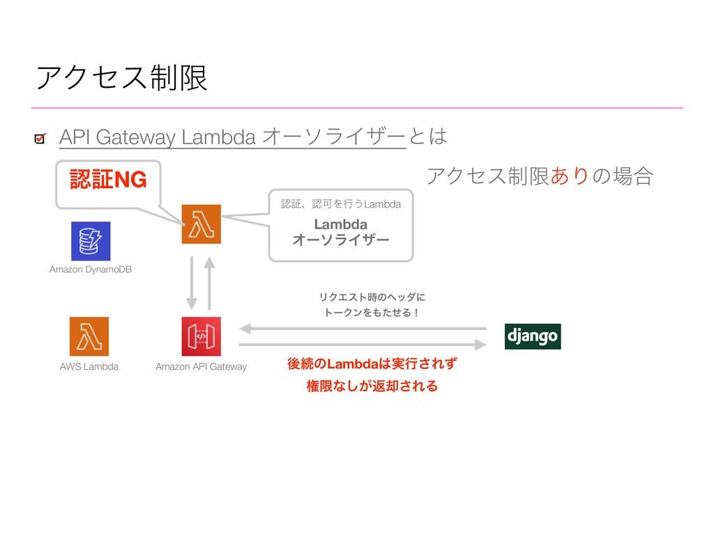 ΞΫηε੍ݶ API Gateway Lambda ΦʔιϥΠβʔͱ AWS Lambda ...