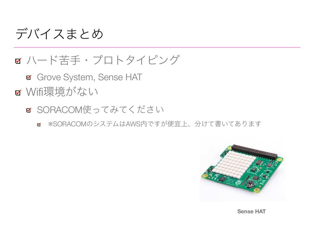 σόΠε·ͱΊ ϋʔυۤखɾϓϩτλΠϐϯά Grove System, Sense HAT ...