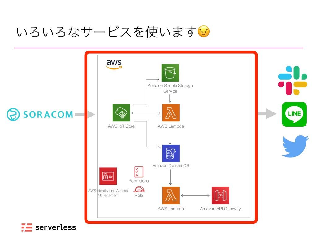 ͍Ζ͍ΖͳαʔϏεΛ͍·͢ AWS IoT Core AWS Lambda Amazon D...