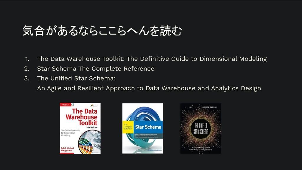 気合があるならここらへんを読む 1. The Data Warehouse Toolkit: ...