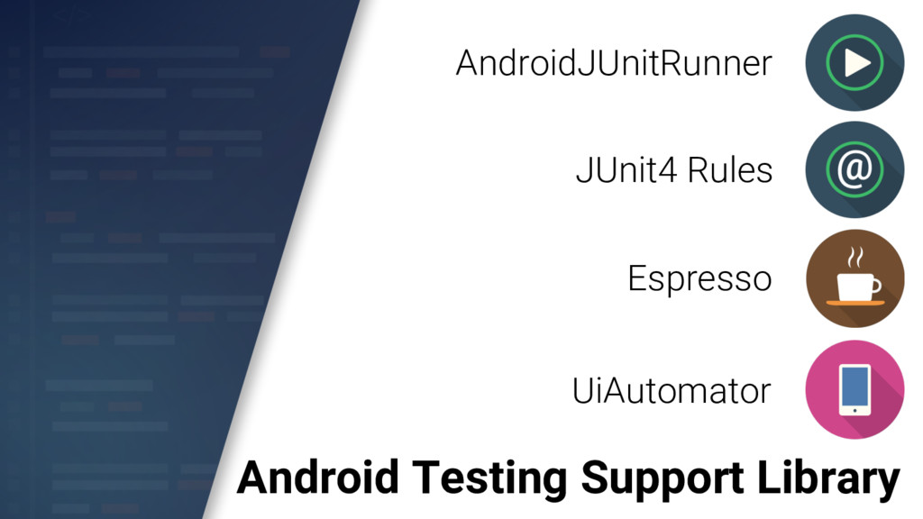 Android Testing Support Library AndroidJUnitRun...