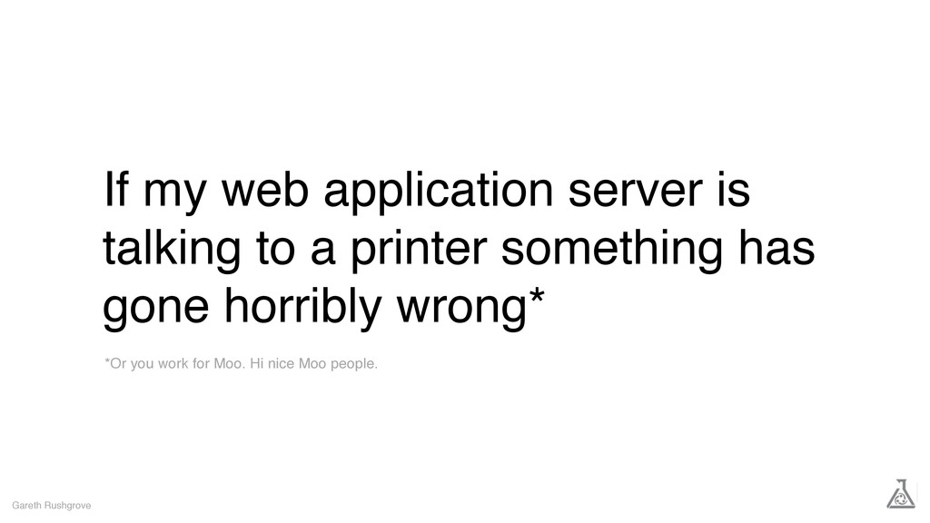 If my web application server is talking to a pr...