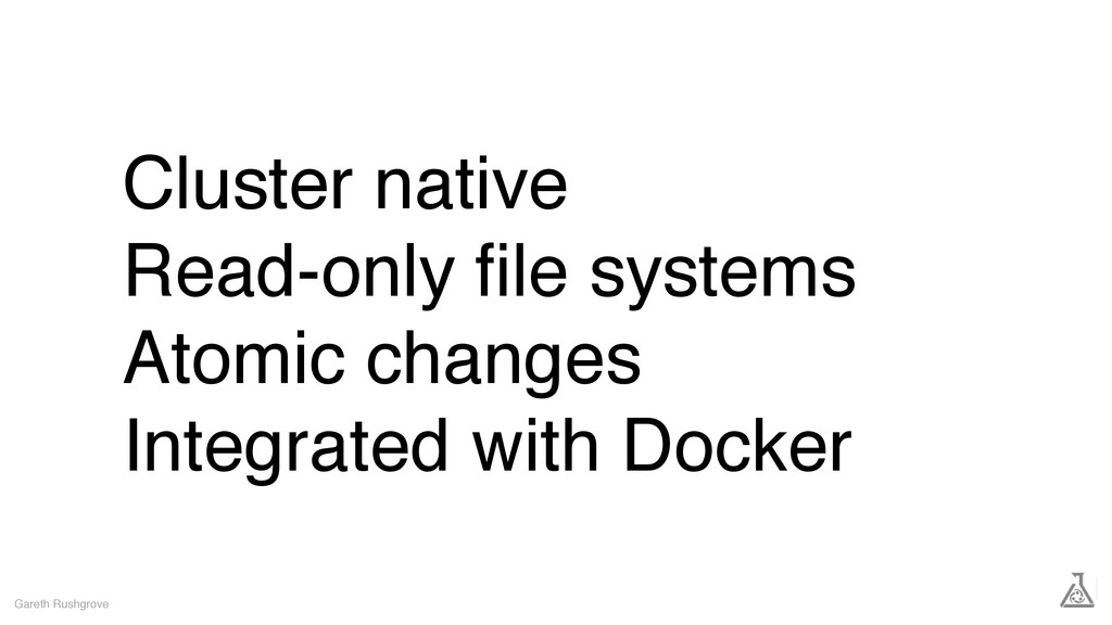 Cluster native Read-only file systems Atomic cha...
