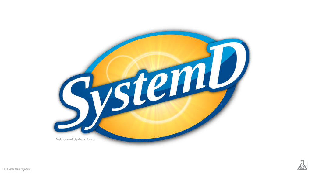 Gareth Rushgrove Not the real Systemd logo