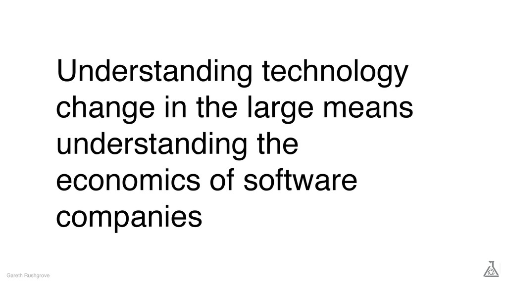 Understanding technology change in the large me...