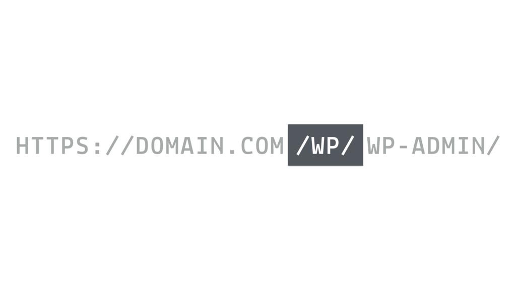 HTTPS://DOMAIN.COM /WP/ WP-ADMIN/