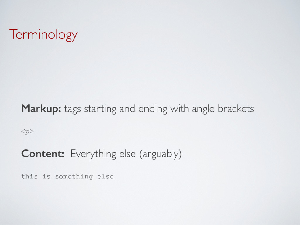 Terminology Markup: tags starting and ending wi...
