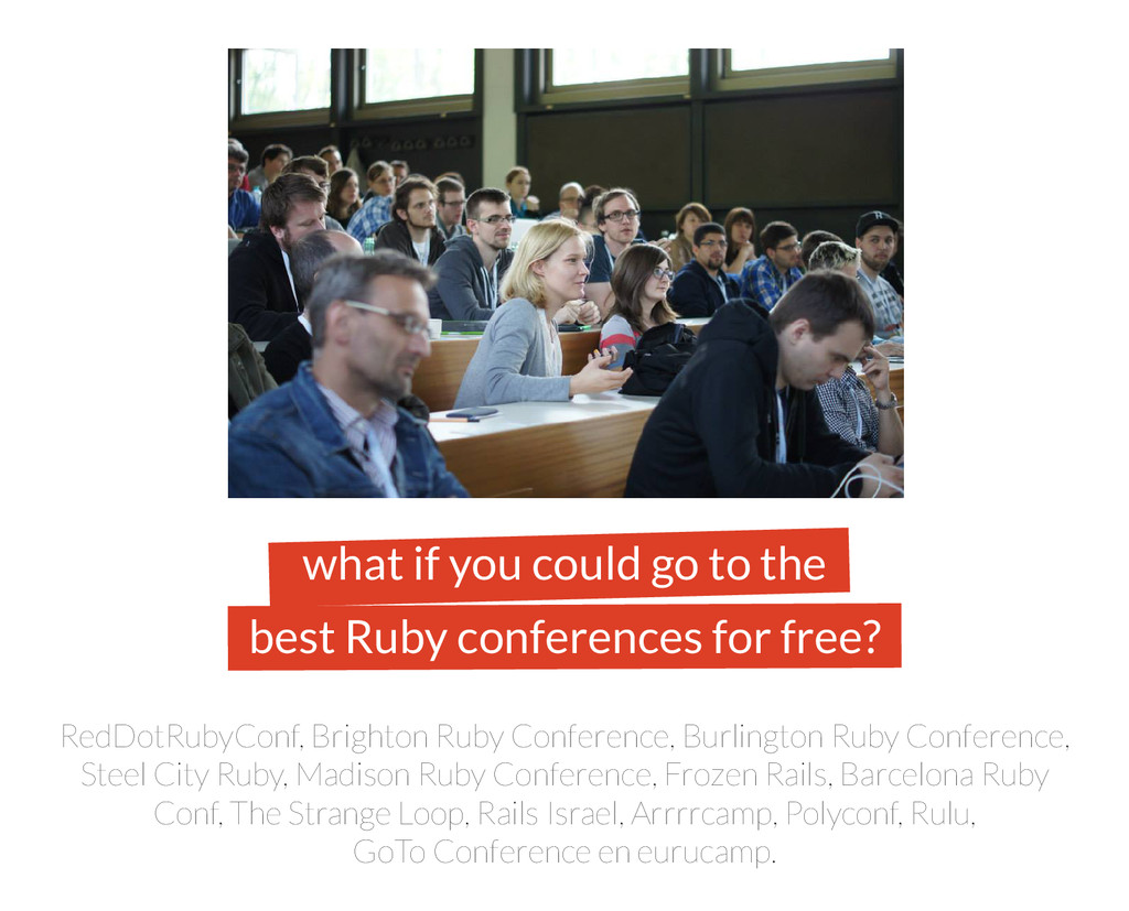 what if you could go to the best Ruby conferenc...
