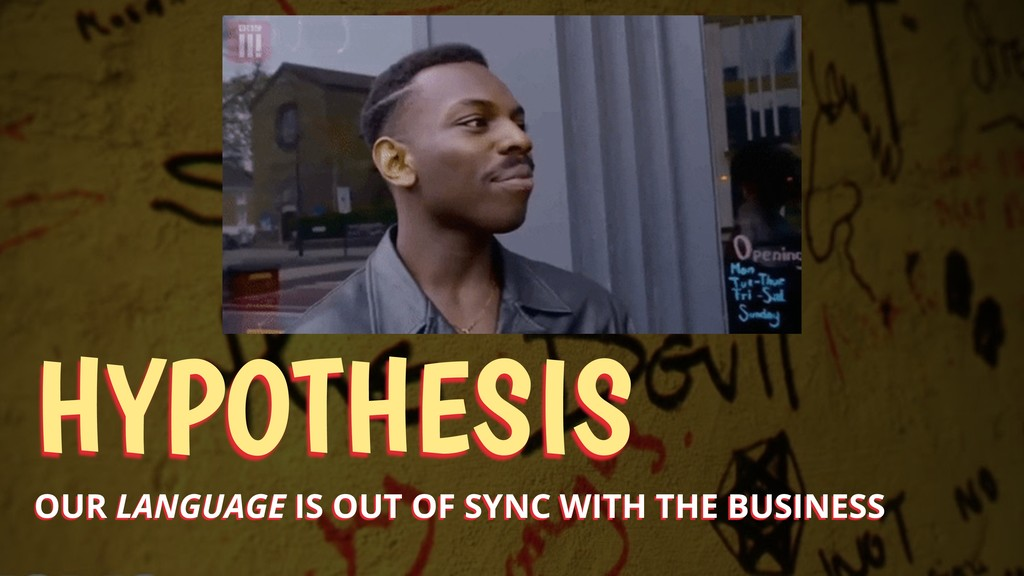 HYPOTHESIS OUR LANGUAGE IS OUT OF SYNC WITH THE...