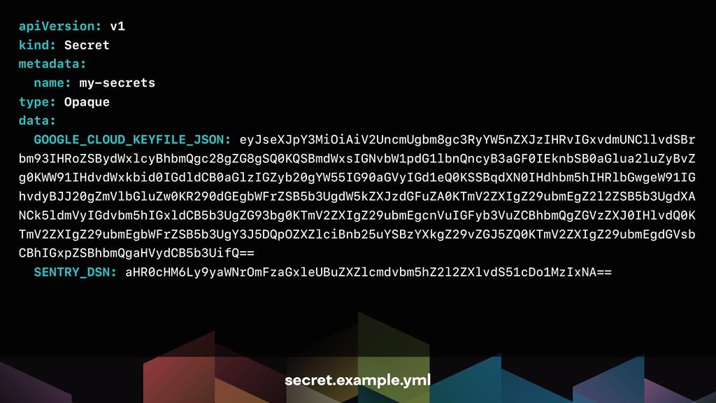 apiVersion: v1 kind: Secret metadata: name: my-...