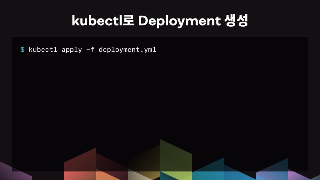 $ kubectl apply -f deployment.yml kubectl옪Depl...