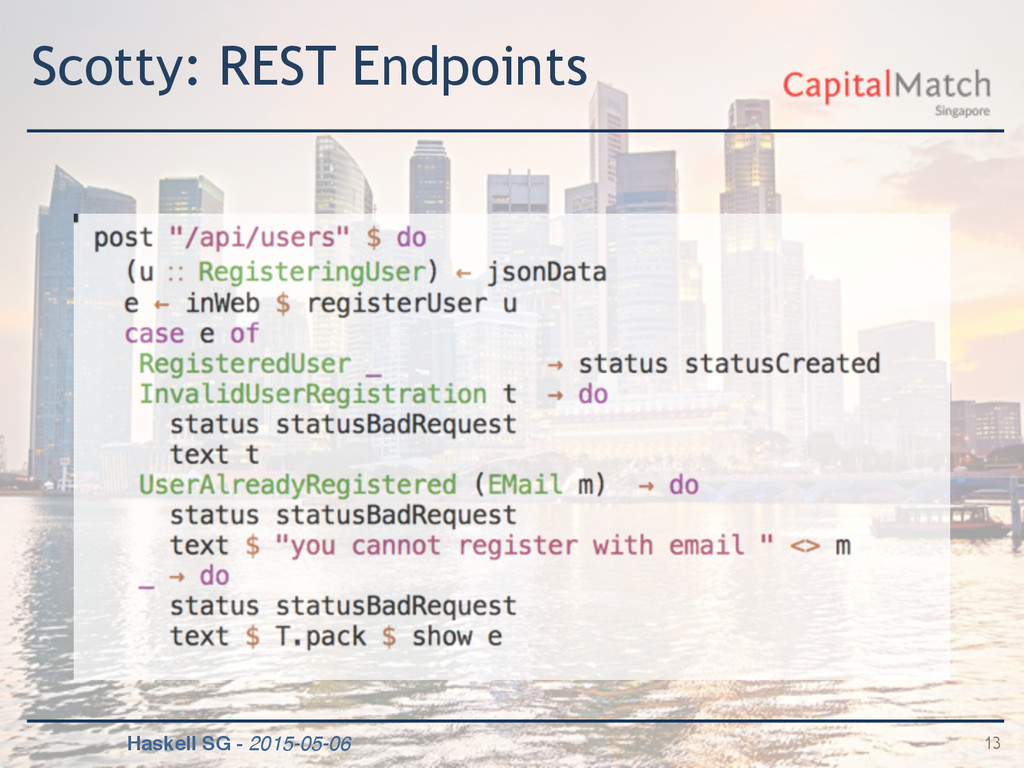 Haskell SG - 2015-05-06 Scotty: REST Endpoints ...