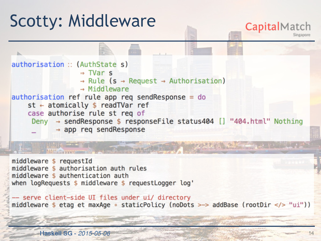 Haskell SG - 2015-05-06 Scotty: Middleware 14
