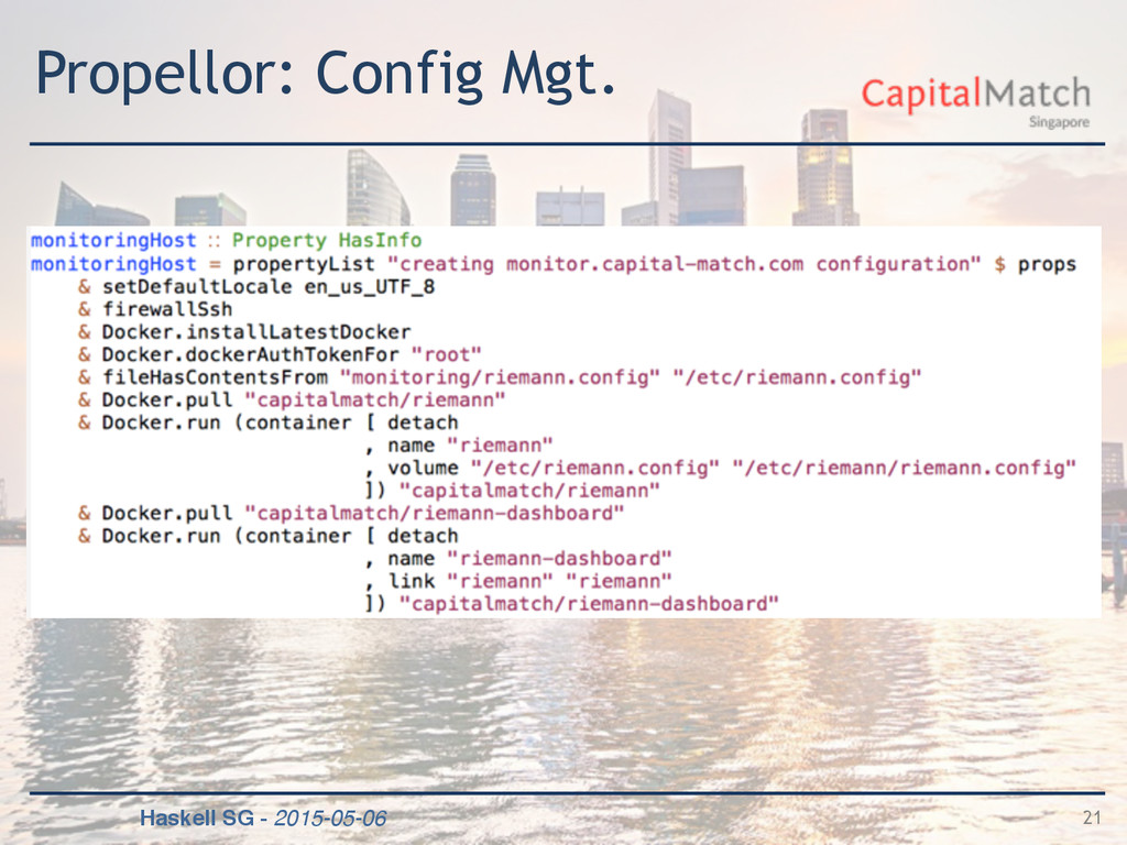 Haskell SG - 2015-05-06 Propellor: Config Mgt. ...