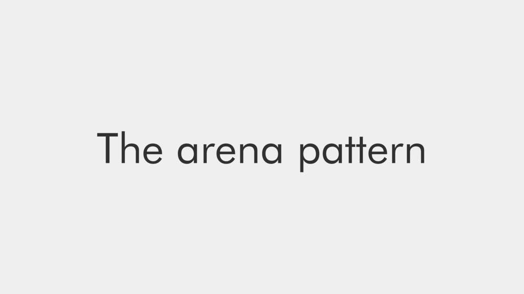 The arena pattern