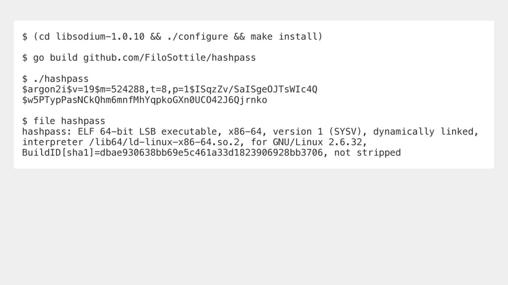 $ (cd libsodium-1.0.10 && ./configure && make i...