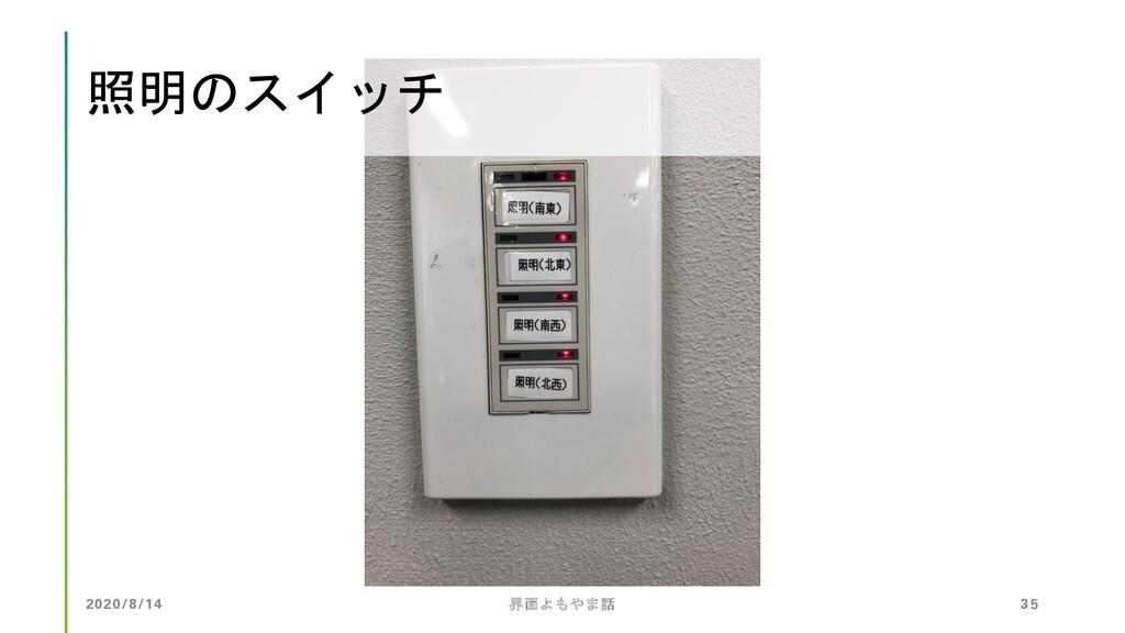照明のスイッチ 2020/8/14 界面よもやま話 35