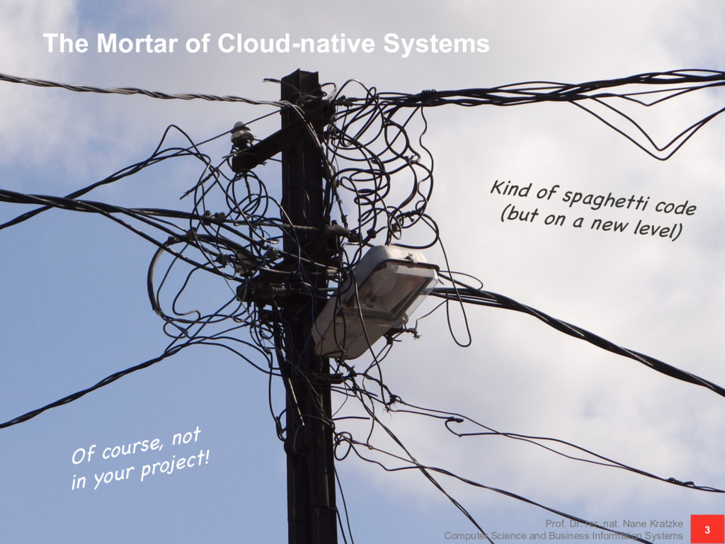 The Mortar of Cloud-native Systems Prof. Dr. re...