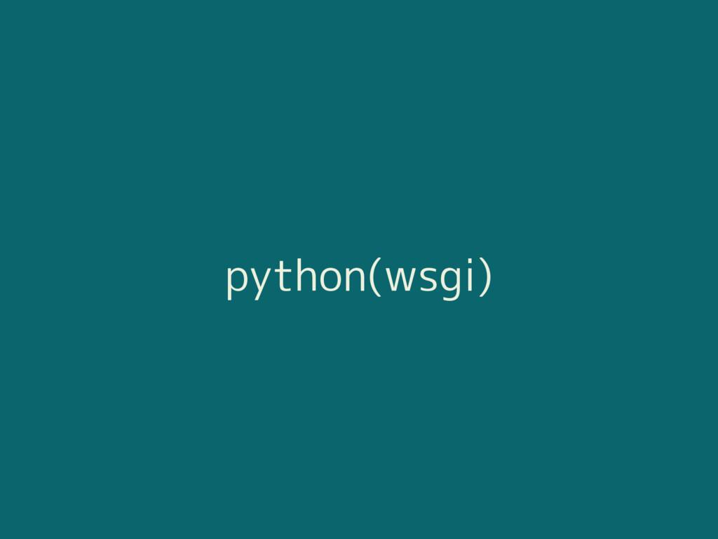 python(wsgi)