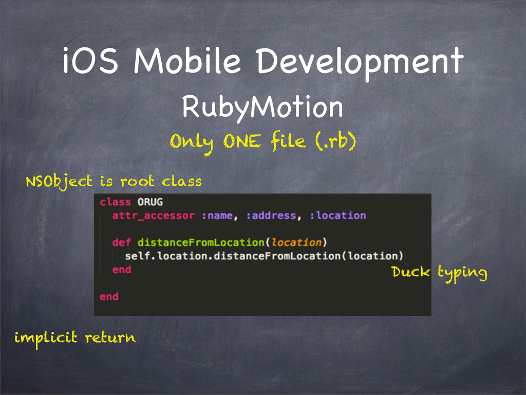 iOS Mobile Development RubyMotion NSObject is r...