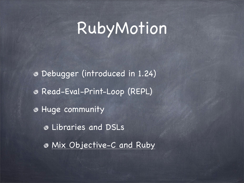 RubyMotion Debugger (introduced in 1.24) Read-E...