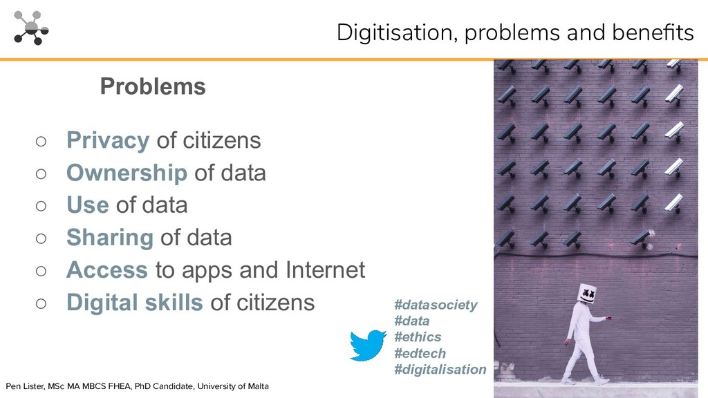 ○ Privacy of citizens ○ Ownership of data ○ Use...