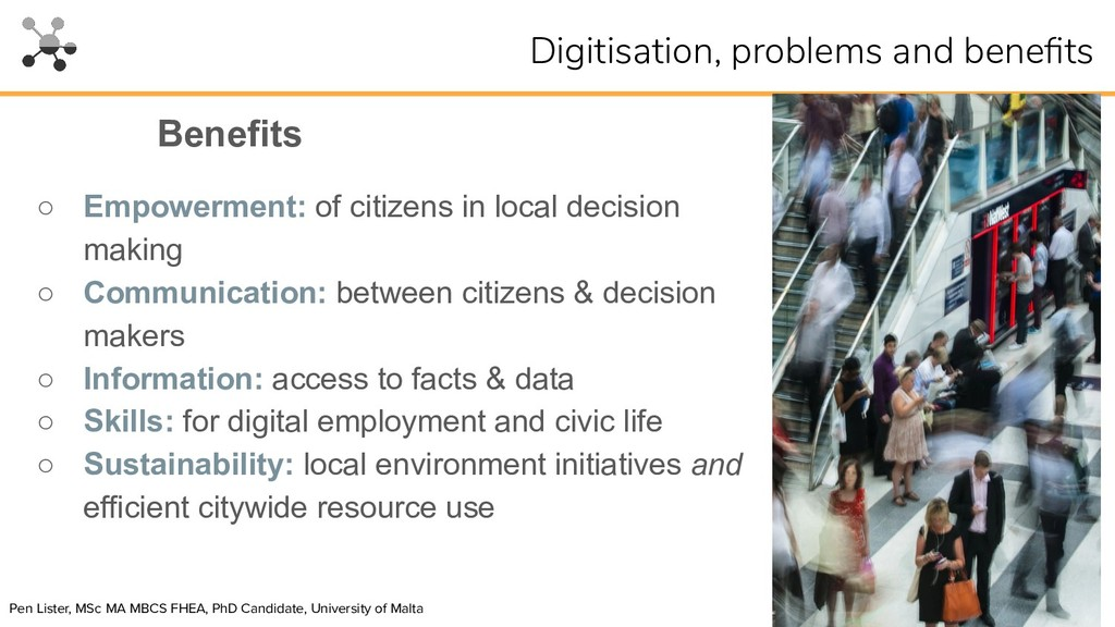 ○ Empowerment: of citizens in local decision ma...