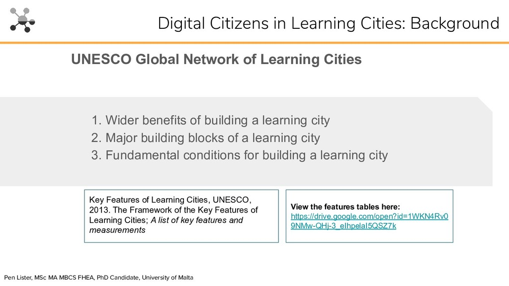 1. Wider benefits of building a learning city 2...