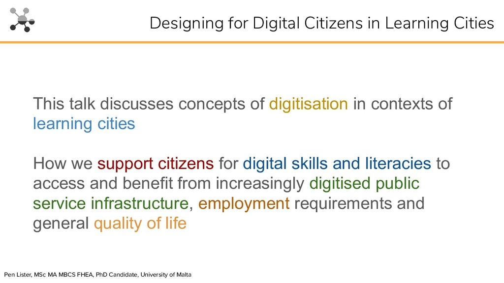 This talk discusses concepts of digitisation in...