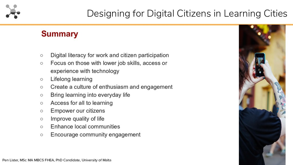○ Digital literacy for work and citizen partici...