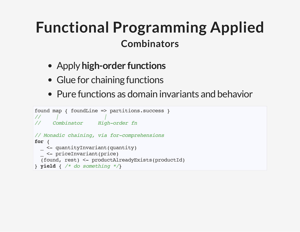 Functional Programming Applied Combinators Appl...
