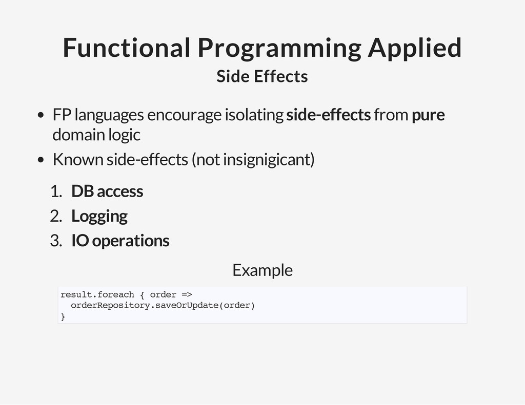 Functional Programming Applied Side Effects FP ...