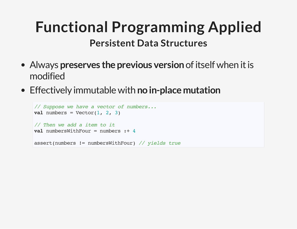 Functional Programming Applied Persistent Data ...