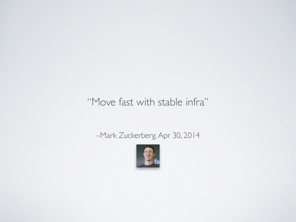 """–Mark Zuckerberg. Apr 30, 2014 """"Move fast with ..."""
