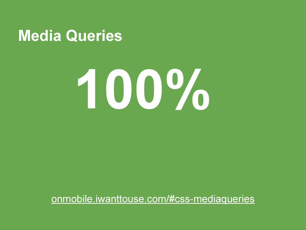 Media Queries 100% onmobile.iwanttouse.com/#css...